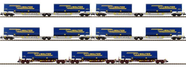 FLEISCHMANN 825017 Tragwagen-Set 7-tlg. LKW Walter | Spur N