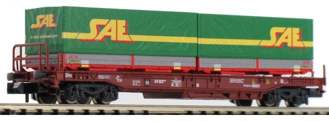FLEISCHMANN 845370 Einheitstaschenwaggon mit 2 Wechselpritschen FS | Spur N