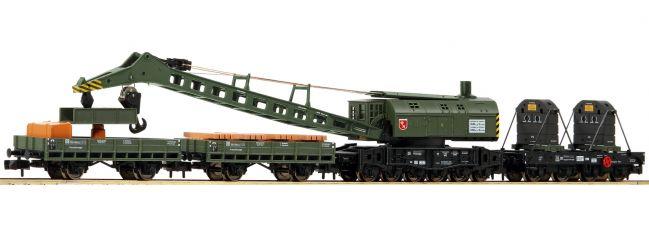 FLEISCHMANN 859902 4-tlg. Set Kranzug mit Dampfkranwagen DB   Spur N
