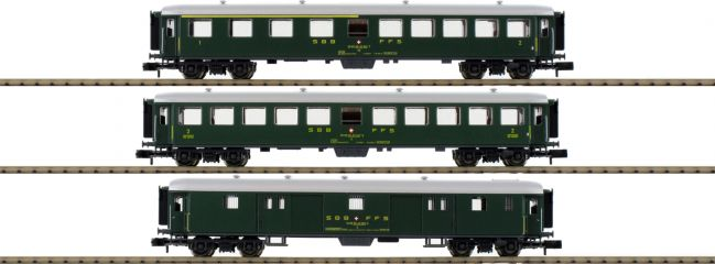 FLEISCHMANN 881813 Schnellzugwagen-Set (Teil 1) SBB 3-tlg. | DC | Spur N