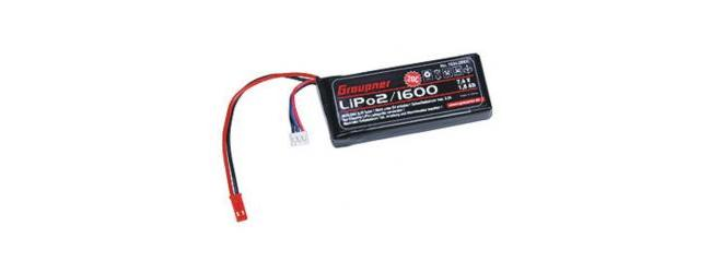 Graupner 7634.2 LiPo-Akku 20C 2/1600 7,4V BEC