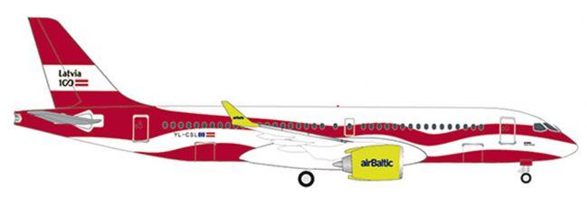 herpa 533171 A220-300 air Baltic Latvia 100 | WINGS 1:500