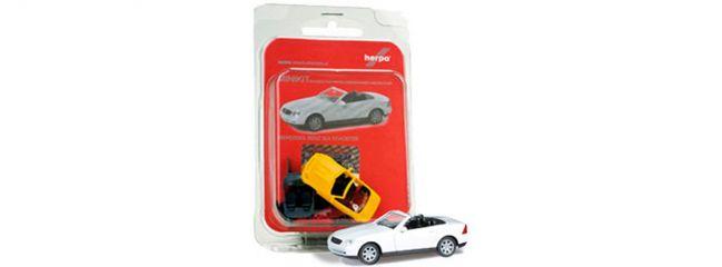 """herpa 012188-003 MiKi MB SLK Roadster""""reinweiß"""" Autobausatz 1:87"""