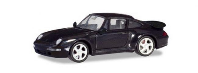 herpa 021890-002 Porsche 911 Turbo schwarz Automodell 1:87