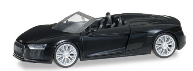 herpa 038690 Audi R8 Spyder mythosschwarz perleffekt Automodell 1:87