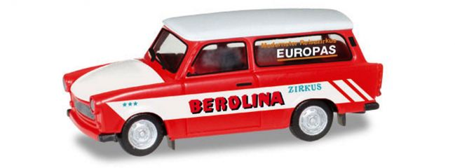 herpa 092739 Trabant 601 Universal Zirkus Berolina Automodell 1:87