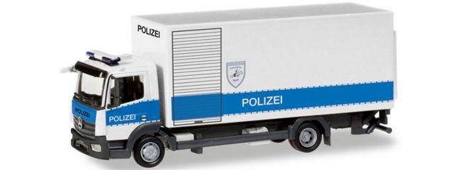 herpa 093538 MB Atego Polizei Hamburg Entschärfer | Blaulichtmodell 1:87