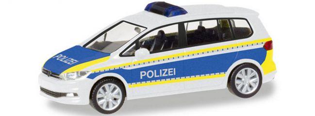 herpa 093576 VW Touran Polizei Brandenburg | Blaulichtmodell 1:87