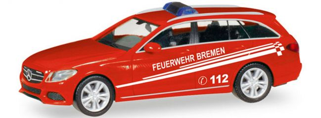 herpa 093583 MB C-Klasse T-Modell FW Bremen | Blaulichtmodell 1:87