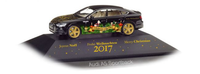 herpa 102117 Audi A5 Sportback Herpa Weihnachts-PKW 2017 Automodell 1:87
