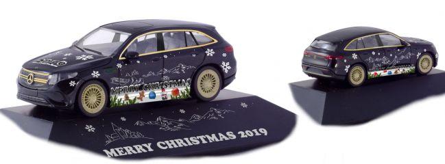 herpa 102155 Mercedes-Benz EQC AMG Herpa Weihnachts-PKW 2019 Automodell Spur H0