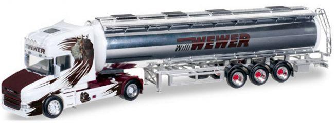 herpa 304870 Scania Hauber ChromTaSzg Willi Wewer | LKW-Modell 1:87
