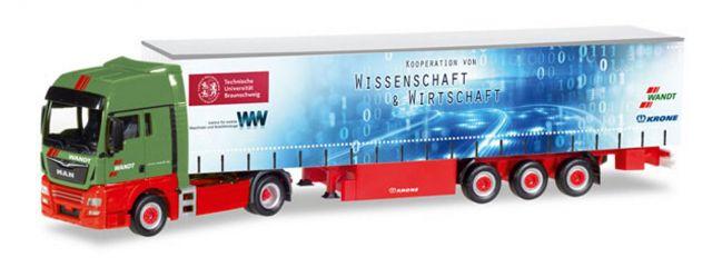 herpa 307925 MAN TGX XXL Gardinenplanensattelzug Wandt/TU Braunschweig LKW-Modell 1:87