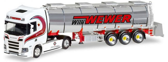 herpa 308427 Scania CR HD Chromtank Szg Willi Wewer | LKW-Modell 1:87