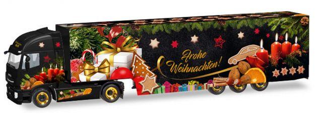 herpa 308960 Iveco Stralis XP Koffersattelzug  Weihnachtstruck 2018 LKW-Modell 1:87