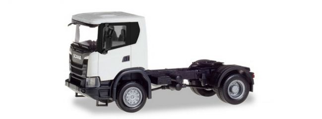 herpa 309769 Scania CG17 4x4 Solozugmaschine weiss LKW-Modell 1:87