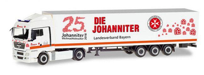 herpa 309851 MAN TGX XLX Koffersattelzug Johanniter Bayern Weihnachtstrucker LKW-Modell 1:87