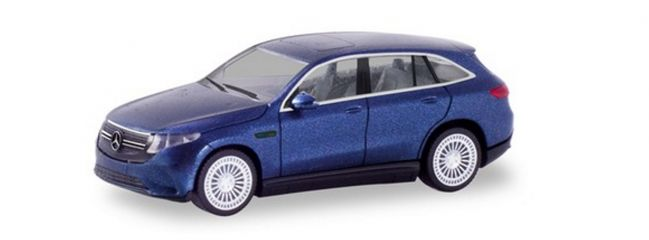 herpa 430715 Mercedes-Benz EQC AMG cavansitblaumetallic Automodell Spur H0