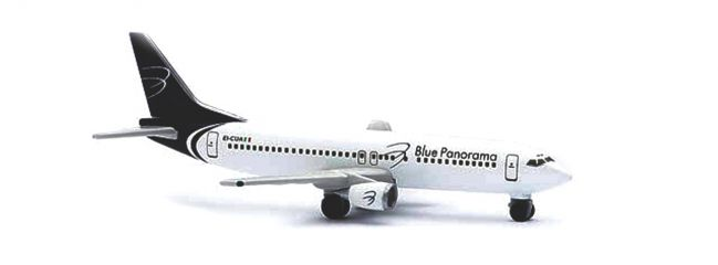 herpa 501347 Boeing 737-400 Blue Panorama Flugzeugmodell 1:500