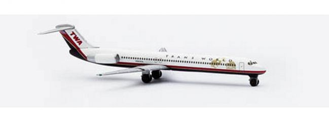 herpa 507646 Boeing McDonnell Douglas MD-83 TWA Flugzeugmodell 1:500