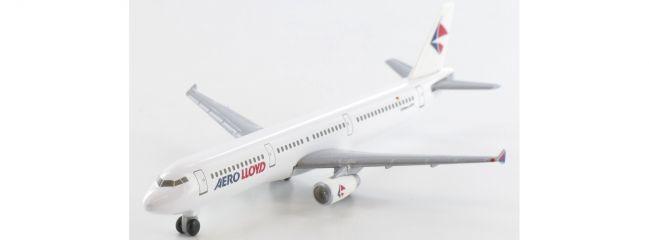 herpa 508674 Airbus A321 Aero Lloyd Flugzeugmodell 1:500