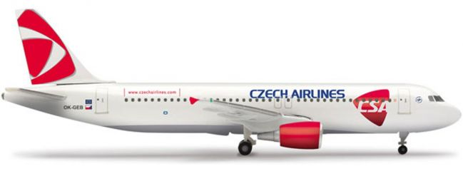herpa 509565001 Airbus A 320 CSA Czech Airlines Wings 1:500