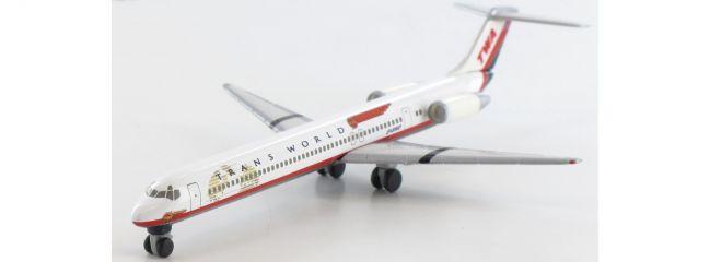 herpa 511247 McDonnell Douglas MD-82 TWA Flugzeugmodell 1:500