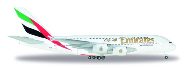 herpa WINGS 514521-004 Airbus A380 Emirates neue Kennung A6-EUK Flugzeugmodell 1:500