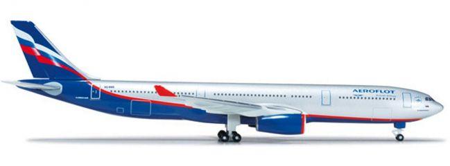 """ausverkauft   herpa 517522-002 A330 Aeroflot """"VQ-BMX""""   WINGS 1:500"""