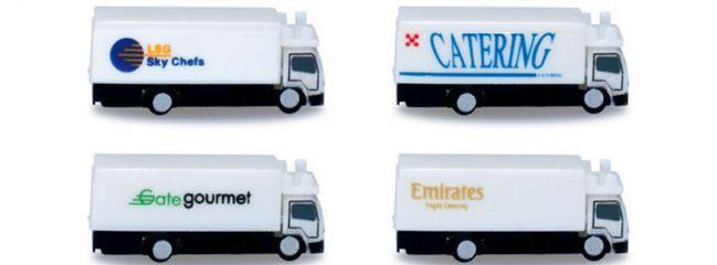 herpa 520577 Catering-Fahrzeuge für Flughafen | 4 Stück | 1:500