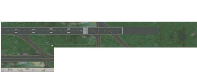 herpa 520676 Folie/Foil III: Runway | Start- Landebahn 1:500