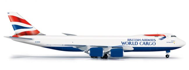 "herpa 523165 B747-8F BA ""World Cargo"" Flugzeugmodell 1:500"