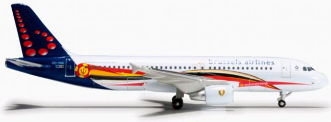 herpa 526371 A320 Brussels Airlines Red Devil WINGS 1:500