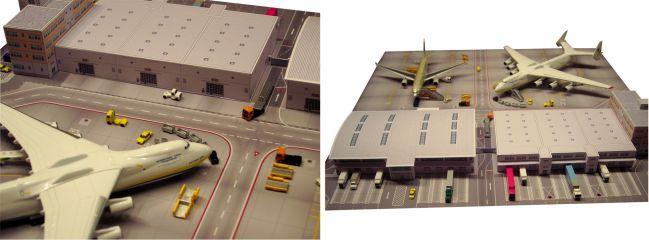 herpa 526852 Scenix Cargo Terminal Bausatz WINGS 1:500