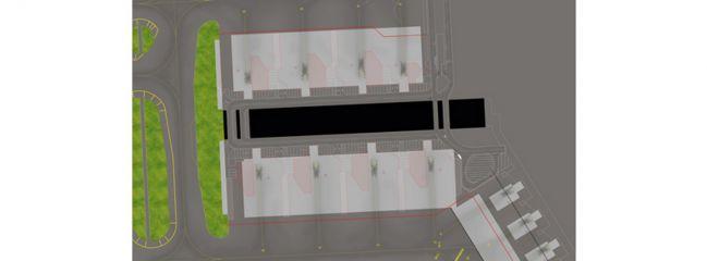 herpa 527354 Amsterdam Pier G Ground Foil WINGS 1:500