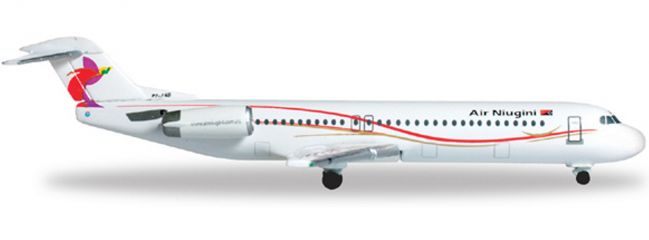 herpa 527460 Fokker 100 Air Niugini WINGS 1:500