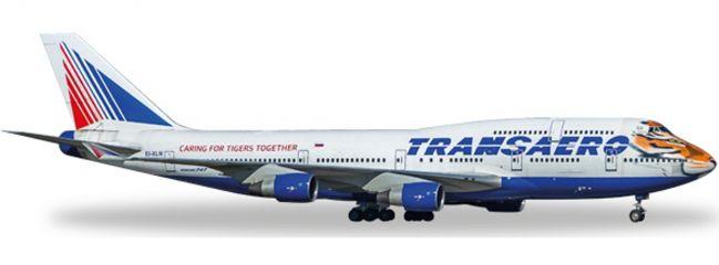 ausverkauft   herpa 529464 B747-400 Transaero Amur Tiger   WINGS 1:500