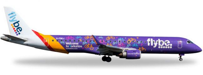 herpa 529792 E195 FlyBe Welcome Yorkshire | WINGS 1:500