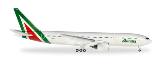 herpa WINGS 530118 Boeing 777-200 Alitalia new colors Flugzeugmodell 1:500