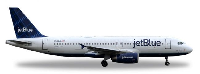 herpa WINGS 530361 Airbus A320 JetBlue Airways Tartan tail design Flugzeugmodell 1:500