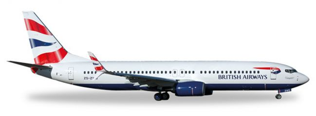 herpa WINGS 530408 Boeing 737-800 British Air Comair Flugzeugmodell 1:500