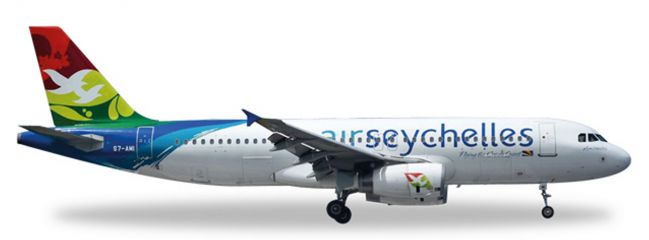 herpa WINGS 530439 Airbus A320 Air Seychelles Flugzeugmodell 1:500