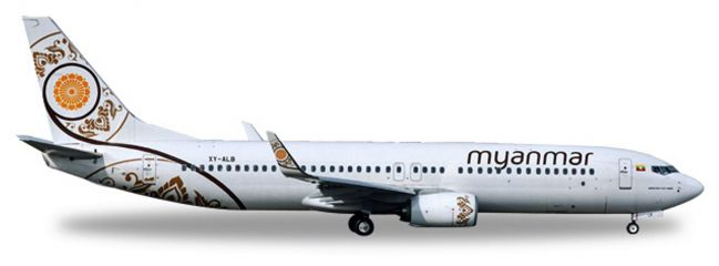 herpa WINGS 530538 Boeing 737-800 Myanmar National Airlines Flugzeugmodell 1:500