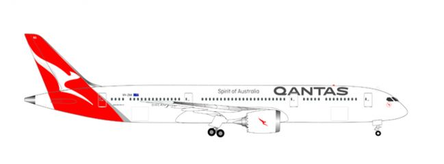herpa WINGS 530545 Boeing B787-9 Dreamliner Qantas new colors Flugzeugmodell 1:500