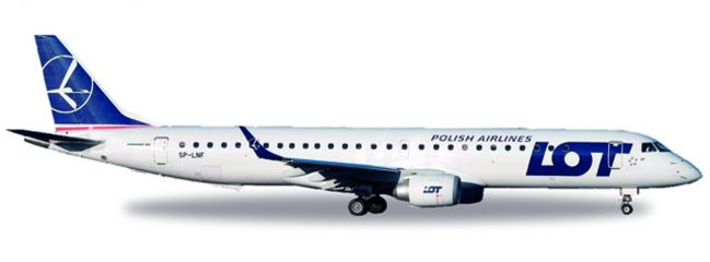 herpa WINGS 530576 Embraer E195 LOT Polish Airlines Flugzeugmodell 1:500