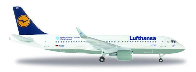 ausverkauft | herpa WINGS 530699 Airbus A320 Lufthansa 25 Jahre Flughafen München Flugzeugmodell 1:500