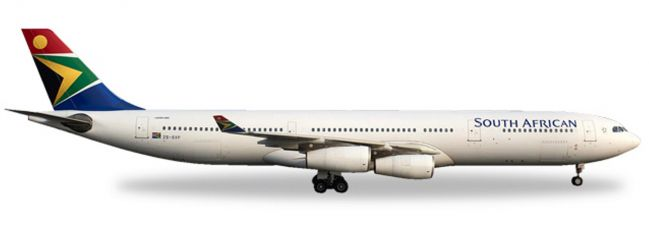 herpa 530712 Airbus A340-300 South African Airways Flugzeugmodell 1:500