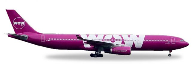 herpa WINGS 530743 Airbus A330-300 WOW Air Flugzeugmodell 1:500