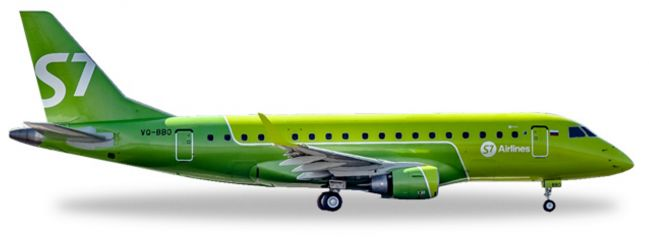 herpa WINGS 530866 Embraer E170 S7 Airlines  new colors Flugzeugmodell 1:500