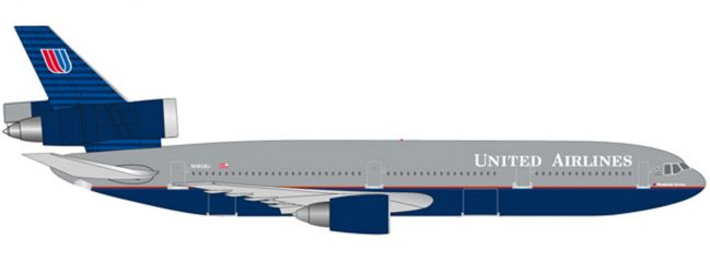herpa 530941 United Airlines McDonnell Douglas DC-10-30 Battleship | WINGS 1:500